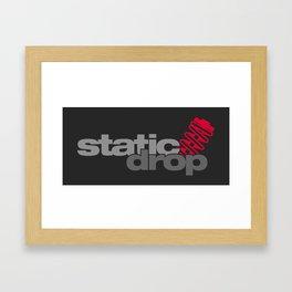 Static drop v1 HQvector Framed Art Print
