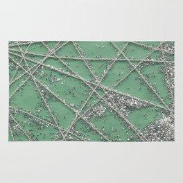 Sparkle Net Mint Rug
