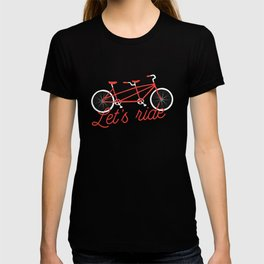 Let's Ride Tandem Bicycle - Red T-shirt
