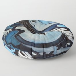 Black & Bleu Floor Pillow