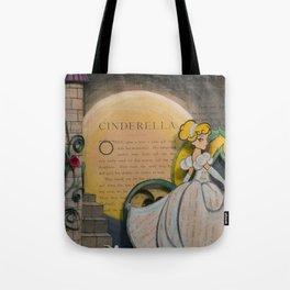Cinderella Book Art Illustration Tote Bag