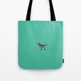 Cat Dinosaur Tote Bag