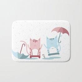 Traveling Tabbies: Play in the Rain Bath Mat