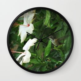Lady Lurking in the Shade Wall Clock