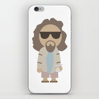 the big lebowski iPhone & iPod Skins featuring THE DUDE - Big Lebowski by Moose Art