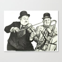 Laurel and Hardy Canvas Print