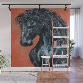 Friesian Horse Original Painting Wall Mural