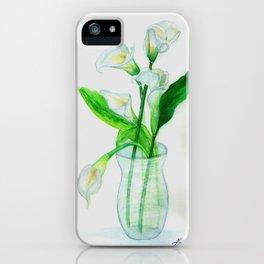 White Calla Lilies iPhone Case