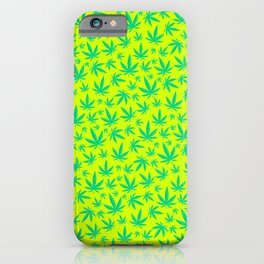 Weed Pattern iPhone Case