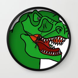 Green T-Rex Wall Clock