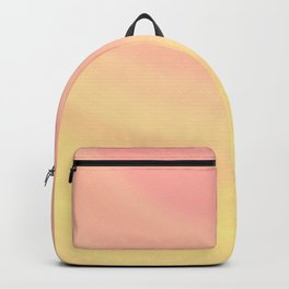 Pastel Millennial Pink Yellow Circle Ombre Gradient Pattern Backpack