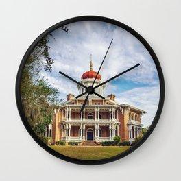 Longwood Home in Natchez Wall Clock