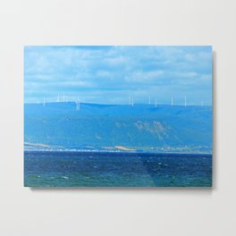 Coastal Wind Farm Metal Print