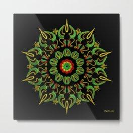 Mandala Reggae en la noche Metal Print