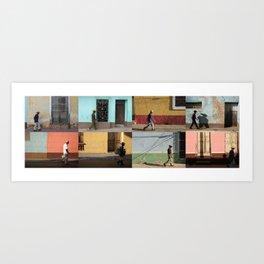Cuba Men Walking  - Horizontal Art Print