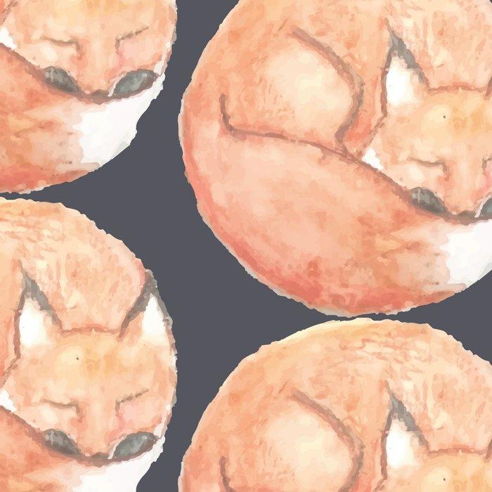 Sleeping Fox Pattern Leggings