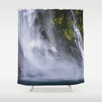 waterfall Shower Curtains featuring Waterfall.. by Michelle McConnell