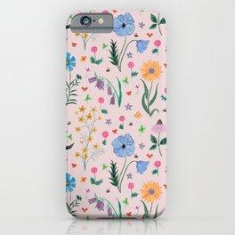 Spring Garden Tossed Pattern iPhone Case