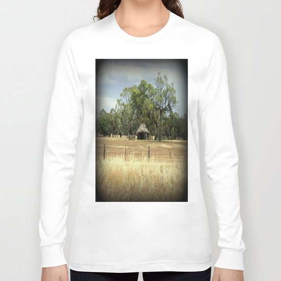 Mid 1800s Thatched Barn Long Sleeve T-shirt