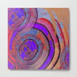 Tree Ring Abstract 2 Metal Print