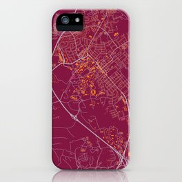 BLACKSBURG VIRGINIA COLLEGIATE MAP HANDRAWN iPhone Case