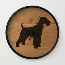 Airedale Terrier Silhouette(s) Wall Clock