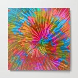 pleated colorful design Metal Print
