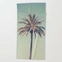 Retro palm tree Beach Towel