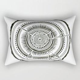 Quaking Aspen – Black Tree Rings Rectangular Pillow