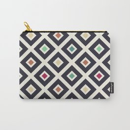 Modern Trendy Geometric Patter in Fresh Vintage Coffee Style Colors Carry-All Pouch
