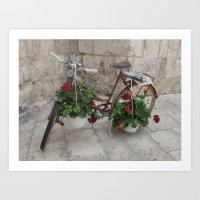 Adorned Bicycle in Croatia Art Print