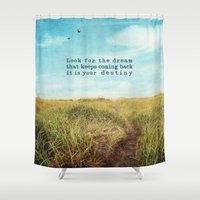 destiny Shower Curtains featuring destiny by Sylvia Cook Photography