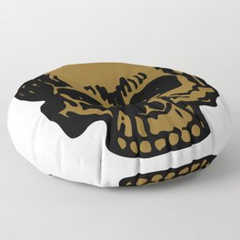 Brown Pirate Skull, Vibrant Skull, Super Smooth Super Sharp 9000px x 11250px PNG Floor Pillow