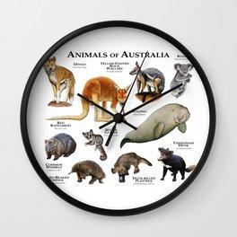 Animals of Australia Wall Clock