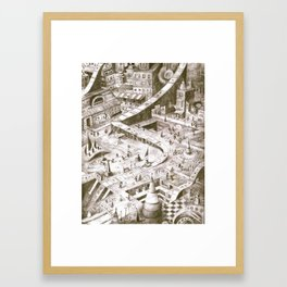 A Quiet Afternoon in Tilhil Framed Art Print
