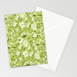 Finally Easter! [mono green] Stationery Cards