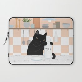 Sweet Milky Morning in Cat's Kitchen Laptop Sleeve