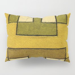 Protoglifo 02 'ochre closer to green' Pillow Sham