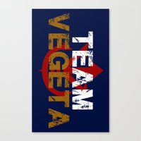 vegeta Canvas Prints featuring Team Vegeta by AJF89
