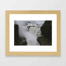 Gulfoss in Iceland Framed Art Print