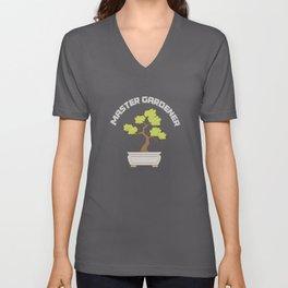 Master Gardener Bonsai Unisex V-Neck