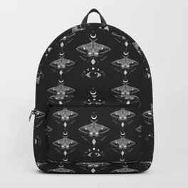 Mystic Moth - Black Backpack