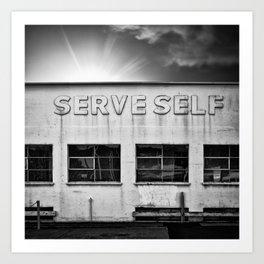 serve self Art Print