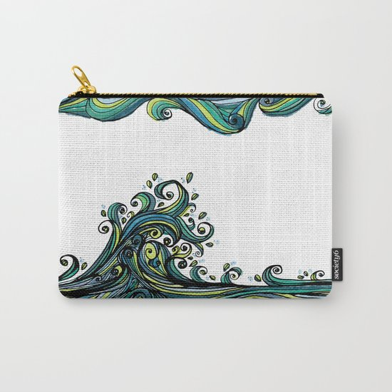Crashing Wave Tangle Carry-All Pouch
