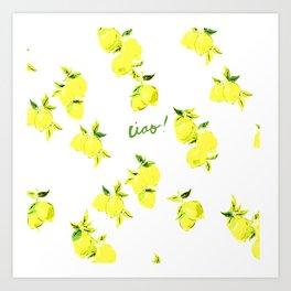 Ciao Lemon Print Art Print