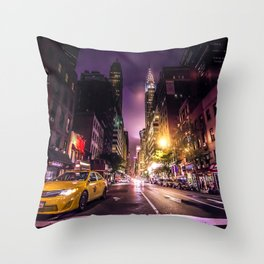 New York City Street Throw Pillow