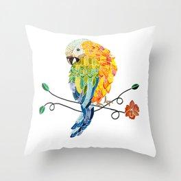 Bird of Costa Rica, hybrid macaw Throw Pillow