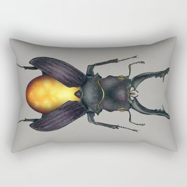 Amber Beetle Rectangular Pillow
