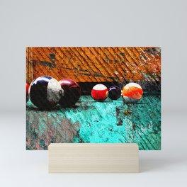 Modern billiards art and Pool artwork vs 24 Mini Art Print