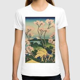 """Hokusai (1760–1849) """"Goten-yama-hill, Shinagawa on the Tōkaidō"""" T-shirt"""